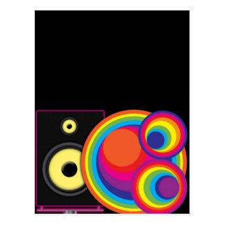 Speaker & Circles Postcard