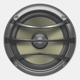 Speaker Classic Round Sticker