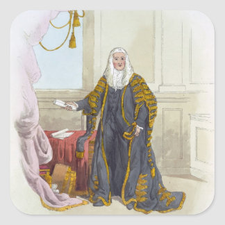 Speaker of the House of Commons, from 'Costume of Square Stickers