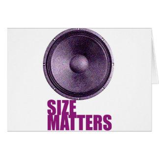 Speaker Size Matters Card