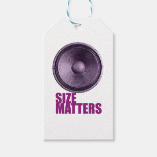 Speaker Size Matters Gift Tags