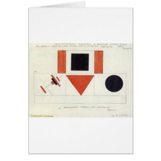 Speakers on Tribune by Kazimir Malevich Card