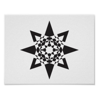 Spear-head Star Geometric Poster