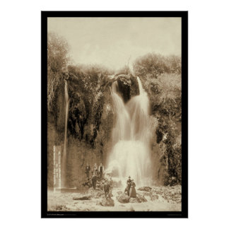 Spearfish Falls Black Hills South Dakota 1889 Poster