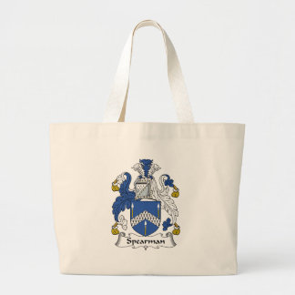 Spearman Family Crest Large Tote Bag