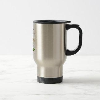 Spearmint Botanical Drawing Travel Mug