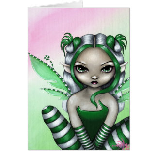 """Spearmint Sprite"" Greeting Card"