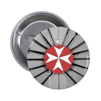 Spears and Knights of St John Maltese Cross 2 Inch Round Button