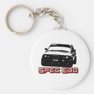 Spec E30 Car Basic Round Button Keychain