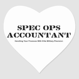 Spec Ops Accountant Heart Sticker