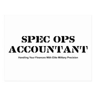 Spec Ops Accountant Postcard