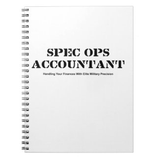 Spec Ops Accountant Spiral Notebook
