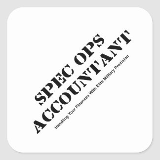Spec Ops Accountant Square Sticker