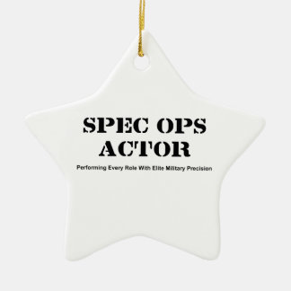 Spec Ops Actor Ceramic Ornament