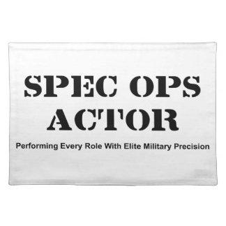 Spec Ops Actor Placemat