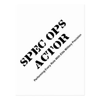 Spec Ops Actor Postcard