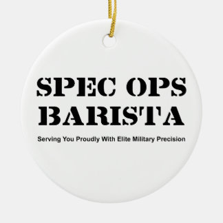 Spec Ops Barista Ceramic Ornament