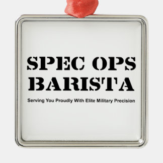 Spec Ops Barista Metal Ornament
