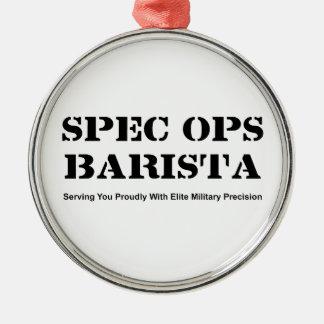 Spec Ops Barista Metal Ornament