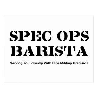 Spec Ops Barista Postcard