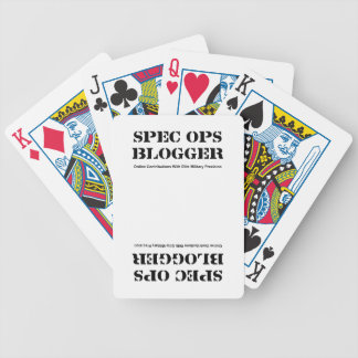 Spec Ops Blogger Bicycle Playing Cards