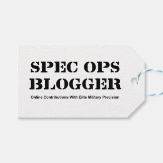 Spec Ops Blogger Pack Of Gift Tags