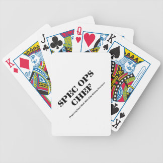 Spec Ops Chef Bicycle Playing Cards