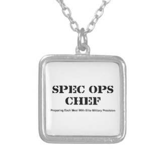 Spec Ops Chef Silver Plated Necklace
