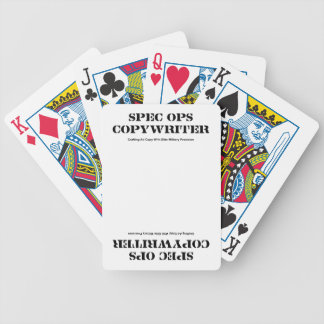 Spec  Ops Copywriter Bicycle Playing Cards