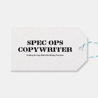 Spec  Ops Copywriter Pack Of Gift Tags