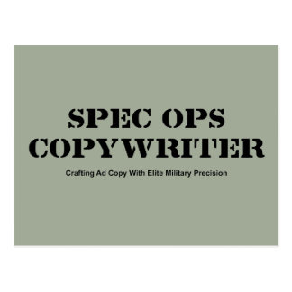 Spec  Ops Copywriter Postcard