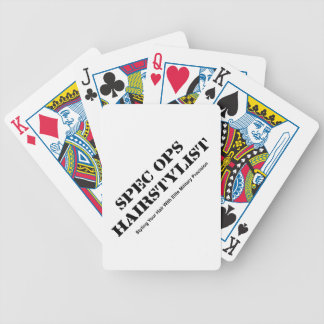Spec Ops Hair Stylist Bicycle Playing Cards
