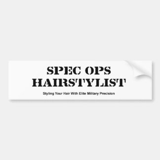 Spec Ops Hair Stylist Bumper Sticker