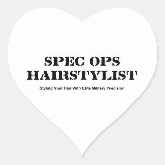 Spec Ops Hair Stylist Heart Sticker