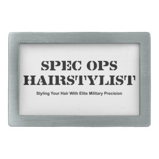 Spec Ops Hair Stylist Rectangular Belt Buckles