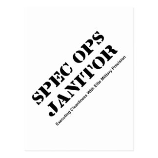 Spec Ops Janitor Postcard