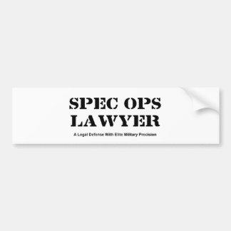 Spec Ops Lawyer - Defense Bumper Sticker