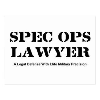 Spec Ops Lawyer - Defense Postcard