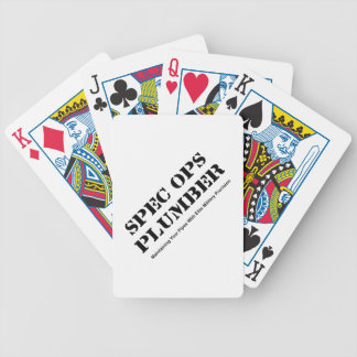 Spec Ops Plumber Bicycle Playing Cards