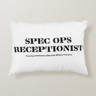 Spec Ops Receptionist Accent Pillow