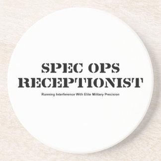 Spec Ops Receptionist Beverage Coasters