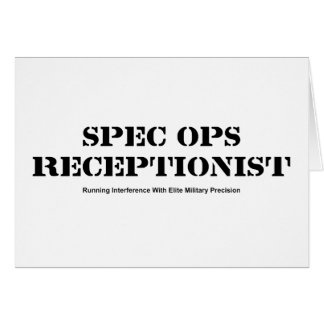 Spec Ops Receptionist Card