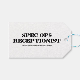 Spec Ops Receptionist Gift Tags