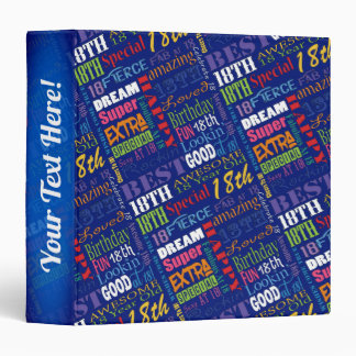 Special 18th Birthday Party Personalized Monogram 3 Ring Binder