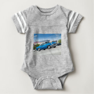 Special 1955 Old Car Blue Classic Vintage Baby Bodysuit