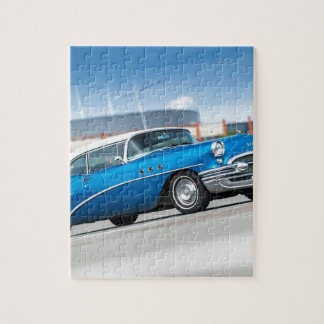 Special 1955 Old Car Blue Classic Vintage Jigsaw Puzzle