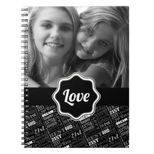 Special 21st Birthday Party Personalized Monogram Spiral Notebook