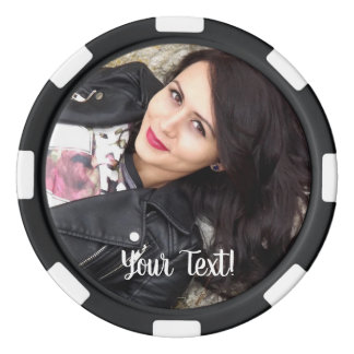 Special 60th Birthday Party Photo Monogram Poker Chips
