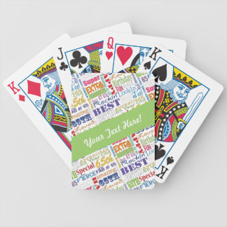 Special 65th Birthday Party Personalized  Gifts Bicycle Playing Cards
