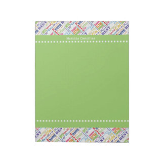 Special  80th Birthday Party Personalized Gifts Notepad